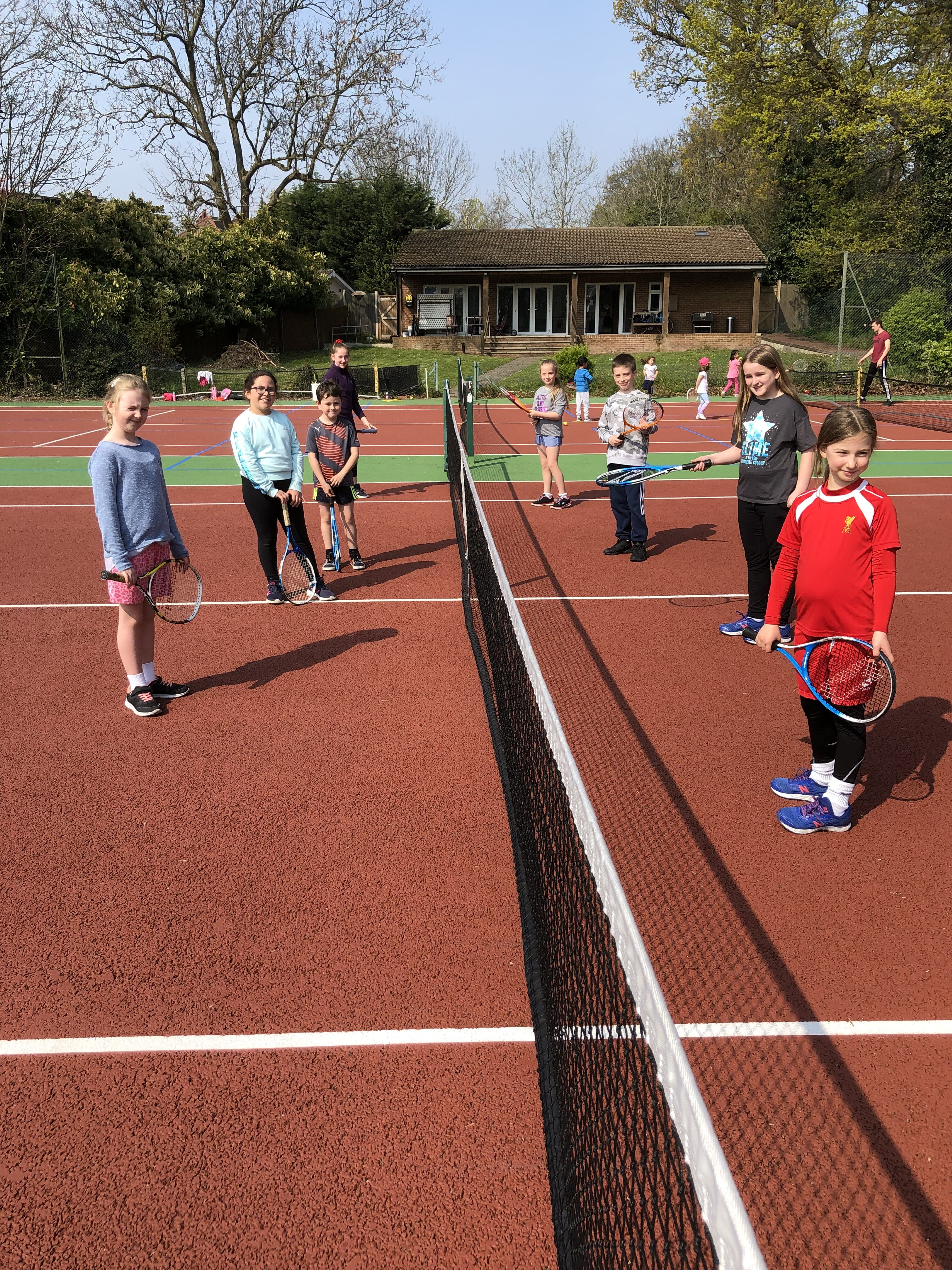 Happy Tennis Campers in North Finchley